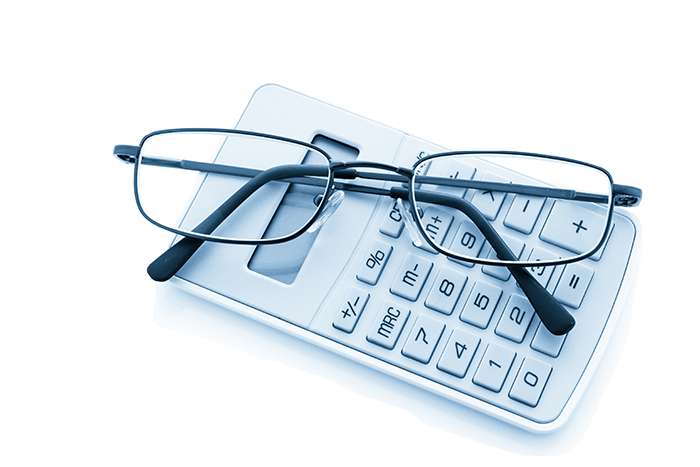 calculator-and-glasses